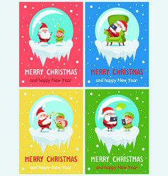 Merry christmas colorful vector