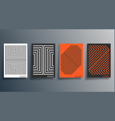 minimal geometric design for flyer poster vector image