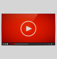 modern video player for web vector image