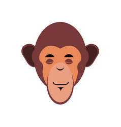 Monkey sleeping emoji marmoset asleep emotion vector