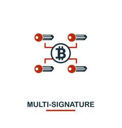 Multi-signature icon creative two colors design vector