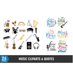 musical instrument icon and quote graphic design vector image