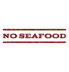 No Seafood Watermark Stamp vector
