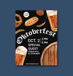 Oktoberfest poster with special induce beer vector