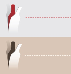 Paper cut wine bottle vector