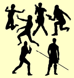 people action silhouette vector image