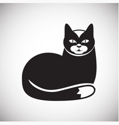 Pet cat icon on white background for graphic and vector