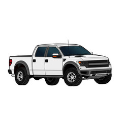 pickup truck template isolated on white vector image