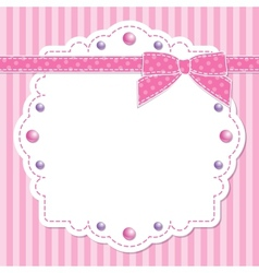 pink frame with bow vector image