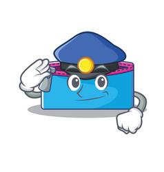 police pencil case character cartoon vector image