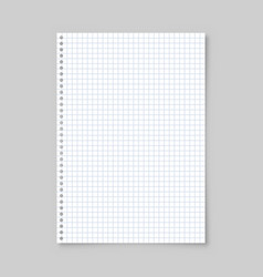 Realistic blank lined paper sheet with shadow in vector