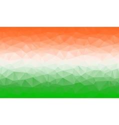 Saffron white and green geometric background vector