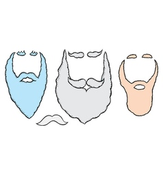 santa mustache and beards vector image