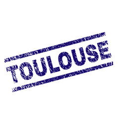 Scratched textured toulouse stamp seal vector