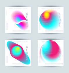 Set of abstract colorful blur vibrant gradient vector