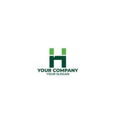 simple hn logo design vector image