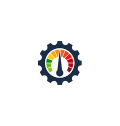 Speed gear logo icon design vector