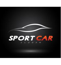 Sports car logo company abstract car design vector