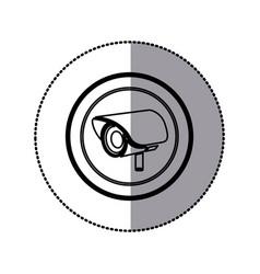 sticker of monochrome contour of exterior video vector image vector image