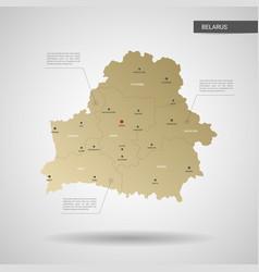 Stylized belarus map vector