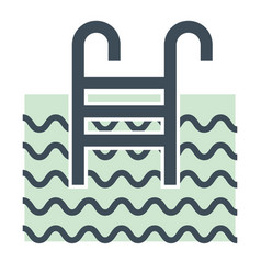 swimming pool and ladder isolated icon hotel vector image