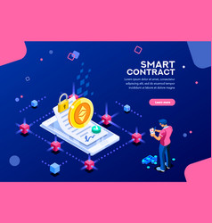 template for smart contract vector image