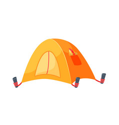 Touristic camping tent isolated on white vector