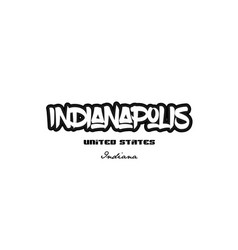 United states indianapolis indiana city graffitti vector