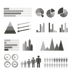 variety infographics elements set vector image