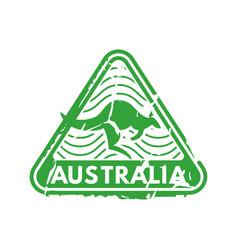 Vintage postage australia mail stamp vector