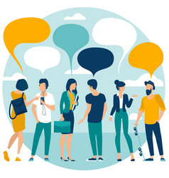 webpeople chatting with speech bubbles vector image