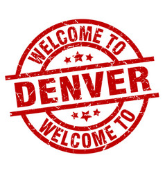 Welcome to denver red stamp vector
