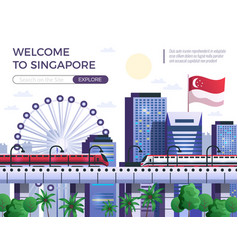 welcome to singapore vector image