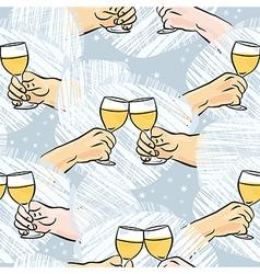 Wine toast background vector image