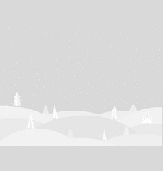 winter landscape with falling snow flat style vector image