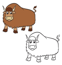 Yak for Coloring book vector
