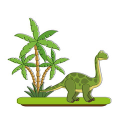 big dinosaur on forest cartoon vector image vector image