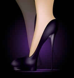 feet in black shoes vector image vector image