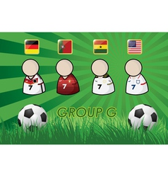 football Player and Flags for championship 2014 vector image vector image
