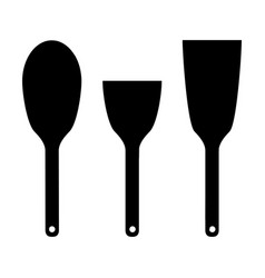 icon set kitchen shovels vector image vector image
