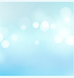 light blue background water summer bokeh vector image vector image