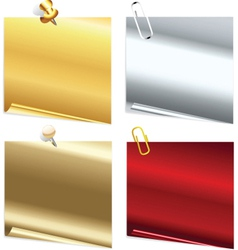 metallic notes vector image vector image