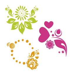 russian style floral designs vector image