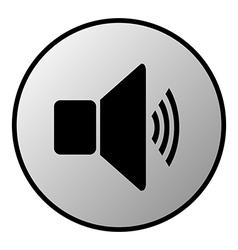 Volume button vector image vector image