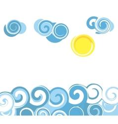 Cartoon sea waves vector image vector image