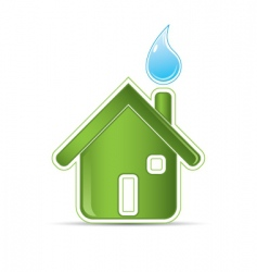 ecological greenhouse icon vector image