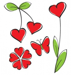 love elements for your design vector image vector image