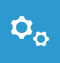 Settings icon white on the blue background vector image vector image