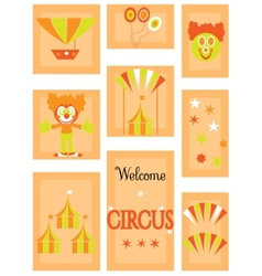 The circus - icon set vector image vector image