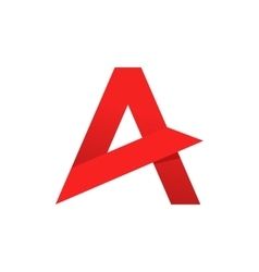Abstract letter A logo template sharp vector image vector image